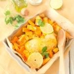 Poulet coco et ses légumes oranges