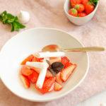 Salade de fraises menthe et meringues