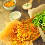 Rösti de légumes et cheddar