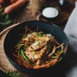 Poulet sauce soja et legumes croquants