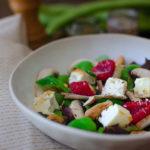 Salade de fèves et framboises