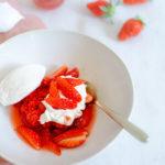 Vacherin minute à la fraise
