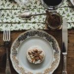 Menu de Noël - Petit fromage de vache amandes et miel à la truffe