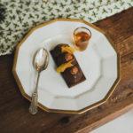 Menu de Noël - Barquette chocolat et caramel épicé à l'orange