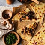 Tarte fine champignons - Aude Merle - Photographe culinaire