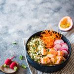 Poke boulghour saumon passion - Dites Vanille - Aude Merle - Création de contenu gourmand